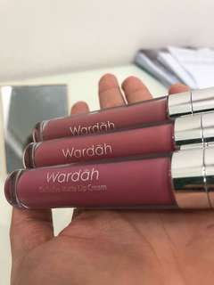 Wardah matte lip cream 3 pax