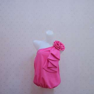 Flower pink tarzan top