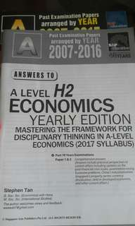 A levels h2 economics tys