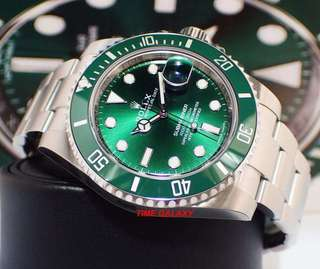 "Brand New ROLEX Submariner 40mm Green Ceramic model 116610LV ""The Hulk"""