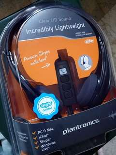 Plantronics noise cancelation headset