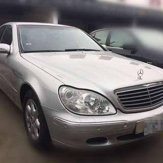 【老頭藏車 】2001 Benz S320『0元就把車貸回家 』『全貸,超貸,免保人』 二手