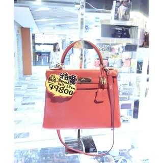 Hermes Rose Pink Togo Leather Classic Kelly 28cm Shoulder Handbag Hand Bag PHW 愛馬仕 桃粉紅色 牛皮 皮革 經典款 凱莉 28公分 銀扣 手挽袋 手袋 肩袋 袋