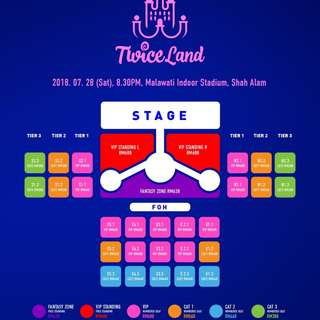 [WTB] Twiceland Malaysia VIP Standing Ticket