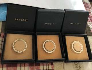 Authentic bvlgari silver key ring