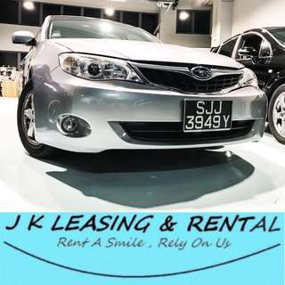 *NO CONTRACT NO DEPOSIT* SUBARU IMPREZA 1.5A HATCHBACK UBER GRAB RYDEX RENT RENTAL CHEAP CHEAPEST PROMO