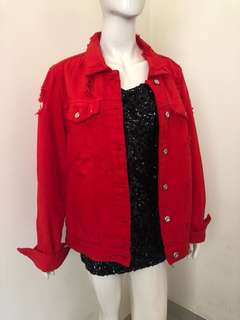 Original Zara Ripped jeans jacket