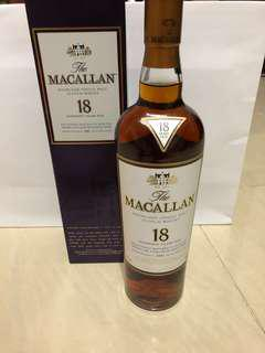 Macallan 18 SHERRY OAK (1997日版)