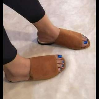 Flat Suede Sandals