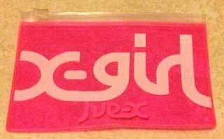 x-girl Shocking Pink 螢光粉紅 小物袋 mini pouch 一個