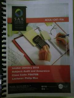ACCA F8 (Audit and Assurance) Lecture Notes