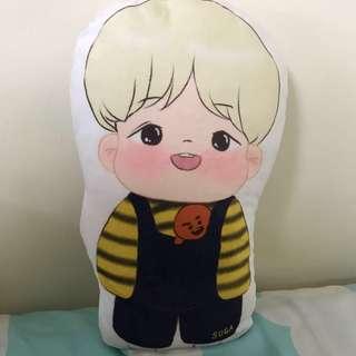 BTS 防彈少年團 Suga 幼兒園抱枕 娃娃