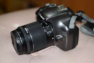 Canon 1100D with 18-55mm IS STM len.