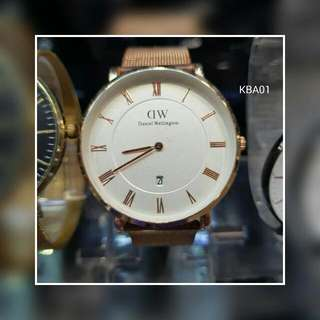 DW With Date Mesh Strap Battery Operated No Box