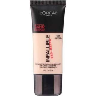 Loreal Infallible Pro-Matte Foundation (shade 101)