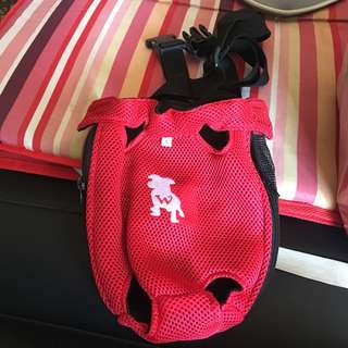 Pet carrier bag red small