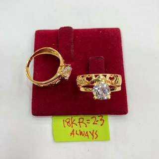 LADIES RING 18K SAUDI GOLD