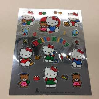 Sanrio 1991年 絶版 Hello Kitty 銀底貼紙