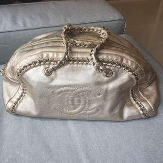 Authentic Chanel medium chain bowling bag