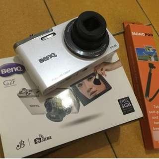 近全新BenQ G2F翻轉螢幕晚美自拍數位相機可Wifi