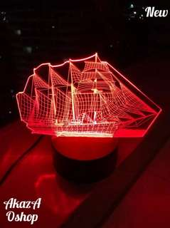Lampu Hias LED 3D Pinisi Ship