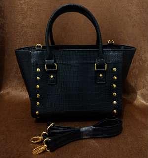 Sarena sling/tote bag black