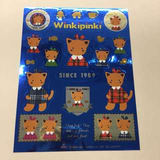 Sanrio 1991年 winkipinki 絶版 貼紙