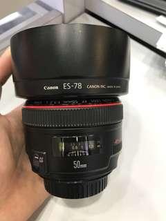 Canon 50mm F1.2 EF L USM Lens
