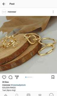 GOLDEN LEAF RINGS