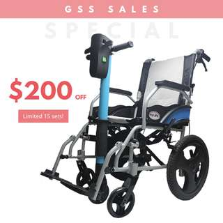 Compact Motorised Wheelchair (Blue)