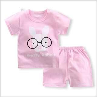 Eyeglass Short-Sleeved Suit Cotton Children - Min Qty 3