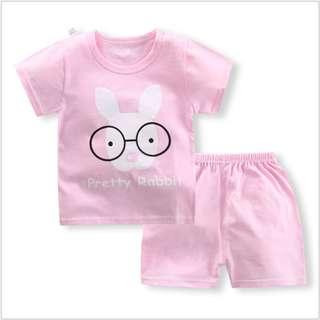 Eyeglass Short-Sleeved Suit Cotton Children - Min Qty 3