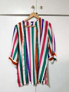 Rustan's Colorful Vintage Stripes Cover up