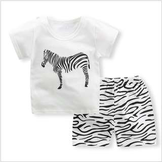 Zebra Short-Sleeved Suit Cotton Children - Min Qty 3