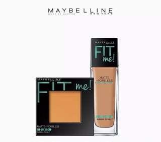 Fit Me Matte 332 Golden Caramel Liquid Foundation + 330 Toffee Powder Foundation