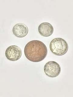 一些香港銀幣和一仙銅幣有意洽價