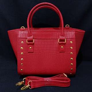 Sarena sling/tote bag red
