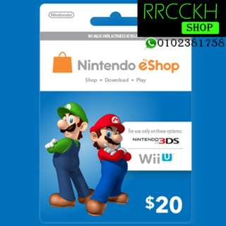 ●Cheap [USD20] Nintendo eShop Gift Card for Switch/3DS/Wii etc.