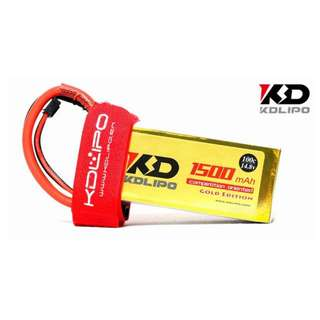 🚚 KD Lipo 1500mAh 14.8V 4s 100C Gold Edition - In Stock!!