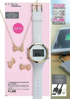Patty Watch and Jewelry Gift