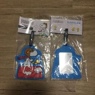 Peanuts Luggage Tag 史努比行李牌