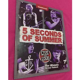 5 seconds of summer on tour fan book