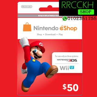 ●Cheap [USD50] Nintendo eShop Gift Card for Switch/3DS/Wii etc.