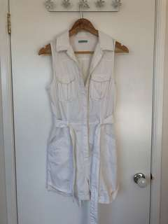 Kookai White Playsuit (36)