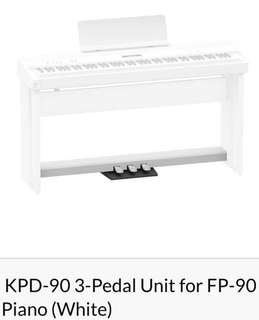Roland KPD-90 3-Pedal Unit for FP-90 Digital Piano (White)