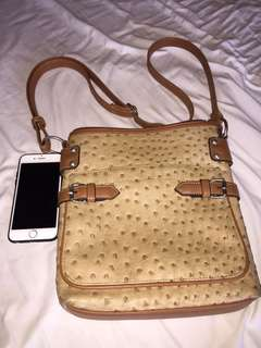 Ostrich Inspired Sling Bag