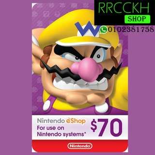●Cheap [USD70] Nintendo eShop Gift Card for Switch/3DS/Wii etc.