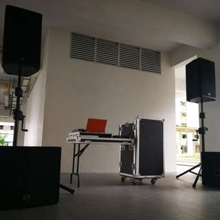 Sound System Rental (W/O SUB-WOOFER) (With Soundman/ transport & Setup)