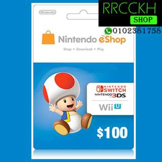 ●Cheap [USD100] Nintendo eShop Gift Card for Switch/3DS/Wii etc.