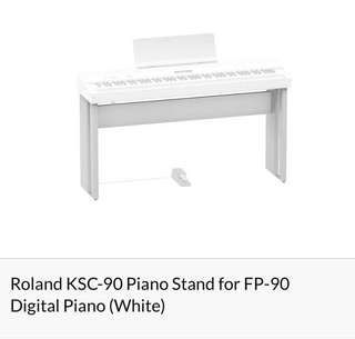 Roland KSC-90 Piano Stand for FP-90 Digital Piano (White)